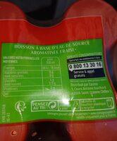 Boisson à base d'eau de source aromatisée saveur fraise - Informations nutritionnelles - fr