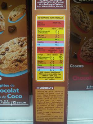 Cookies Pépites de Chocolat et Noix de Coco - 3