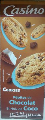 Cookies Pépites de Chocolat et Noix de Coco - Produit - fr