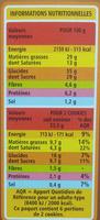 Cookies Pépites de Chocolat et Noix de Coco - Informations nutritionnelles - fr