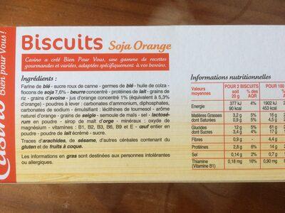 Biscuits soja orange - Ingrédients - fr
