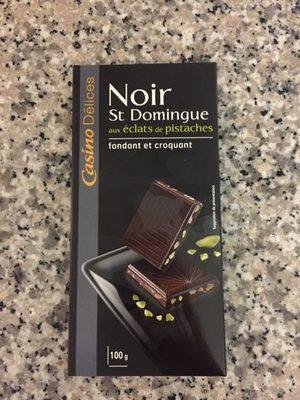 Chocolat Noir st domingue aux eclats de postaches - Product
