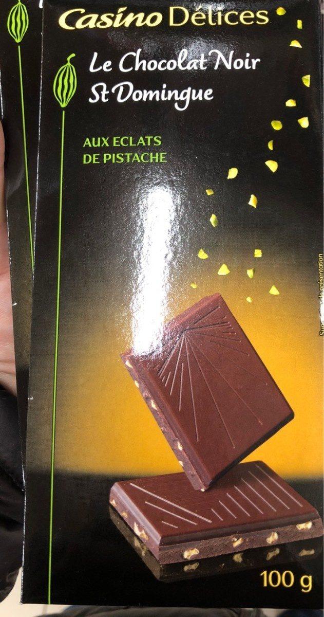 Chocolat Noir st domingue aux eclats de postaches - Producto
