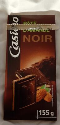 Chocolat noir fourré pâte d'amande - Product