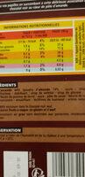 Chocolat noir fourré pâte d'amande - Ingredients