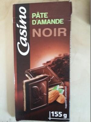 Chocolat noir fourré pâte d'amande - Nutrition facts