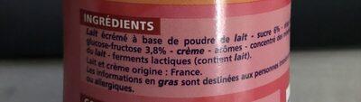 Milky Mix - Yaourt à boir saveur fraise - Ingredients