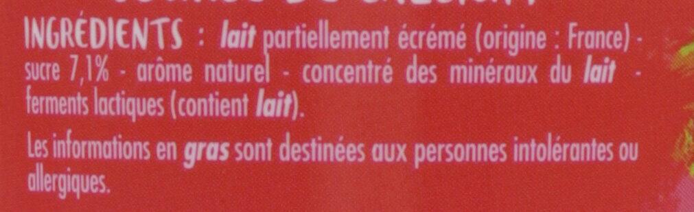 Milky Mix - Yaourt à boir saveur fraise - Ingrédients - fr