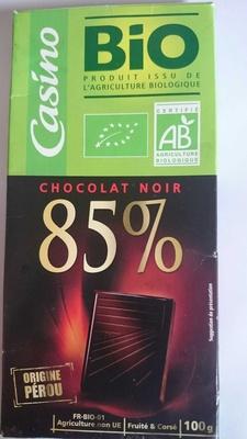 Chocolat noir dégustation 85% origine Pérou Bio - Product - fr