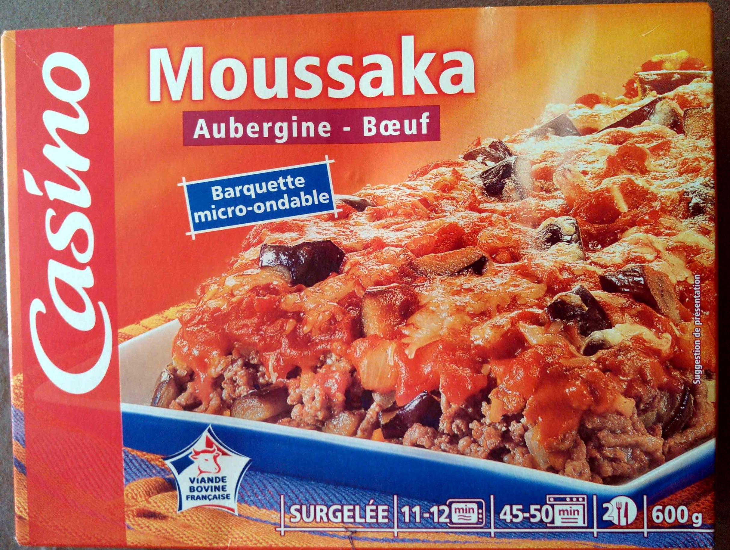 Moussaka Aubergine - Boeuf surgelée - Produkt