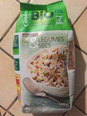 Mélange de riz et de légumes secs bio - Product - fr