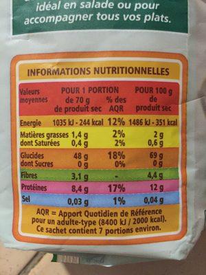 Mélange de riz et de légumes secs bio - Voedingswaarden - fr