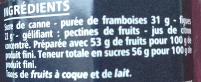 Confiture de framboise figue - Ingredients