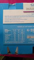 Yaourts brassés aux fruits - Fruits mixés - Informations nutritionnelles - fr
