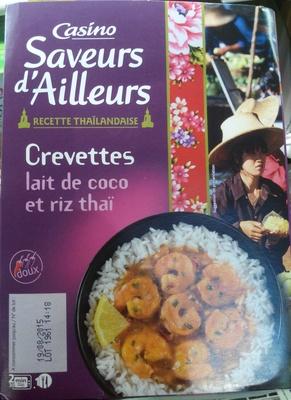 Crevettes lait de coco et riz thaï - Produit - fr