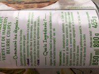 Mélange de haricots verts et de haricots beurre coupés - Ingredients