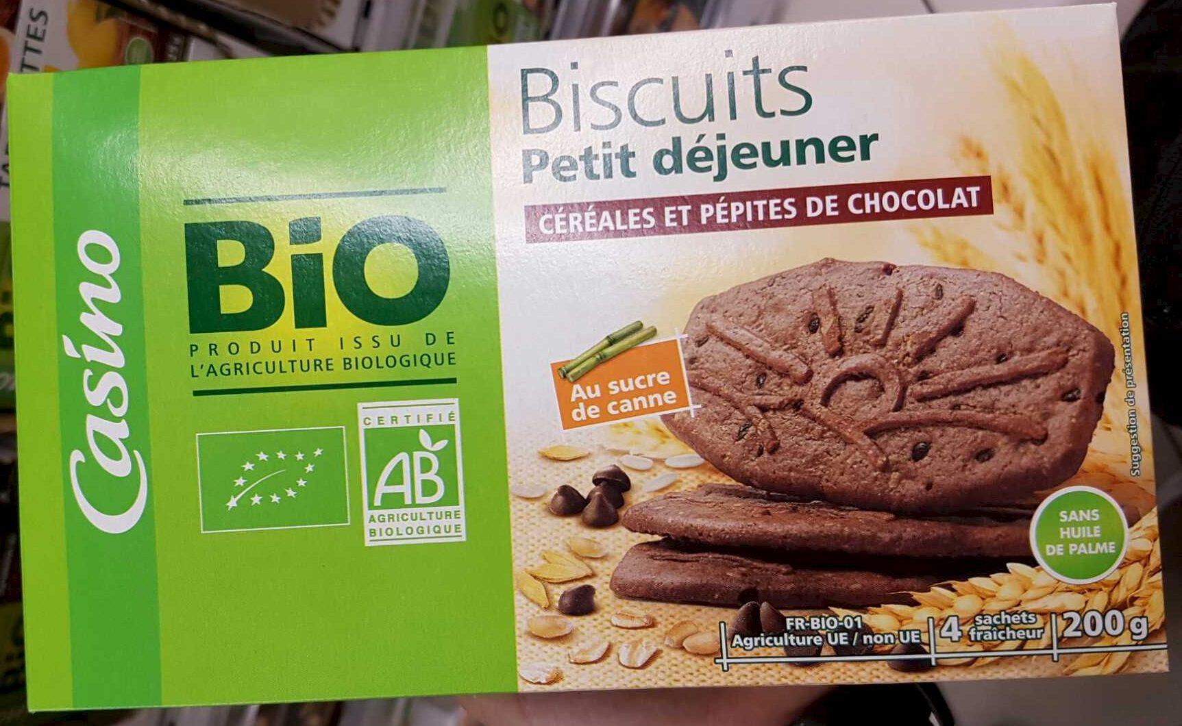 Biscuits petit déjeuner céréales et chocolat - Produit - fr