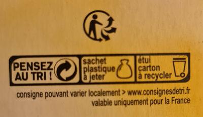 Biscuits petit déjeuner céréales et chocolat - Instruction de recyclage et/ou information d'emballage - fr