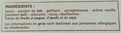 Préparation pour Flan Entremets saveur Vanille - Ingredients