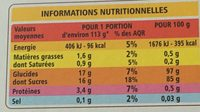 Préparation pour Flan Entremets saveur Vanille - Nutrition facts