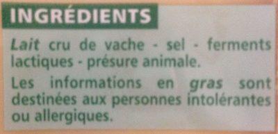 Comté - Ingredients