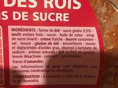 Brioche des rois aux grains de sucre - Ingredients