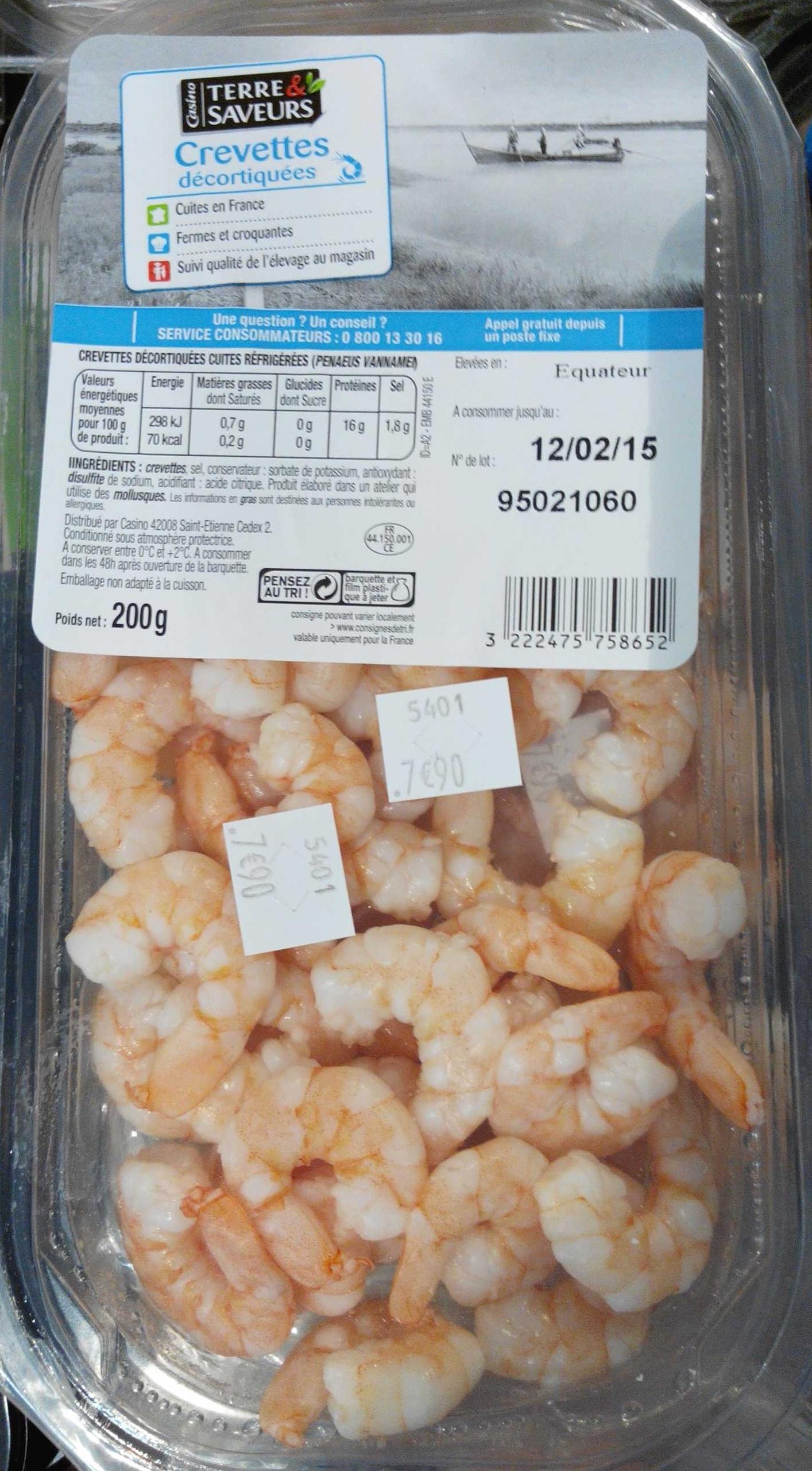 Crevettes décortiquées - Product - fr