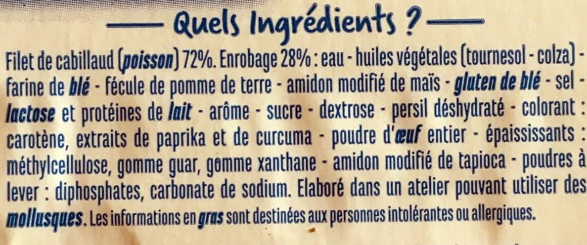 Pavé de calibaud - Ingredients