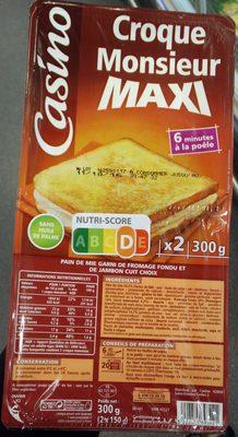 2 croque-monsieur Maxi - Produit - fr