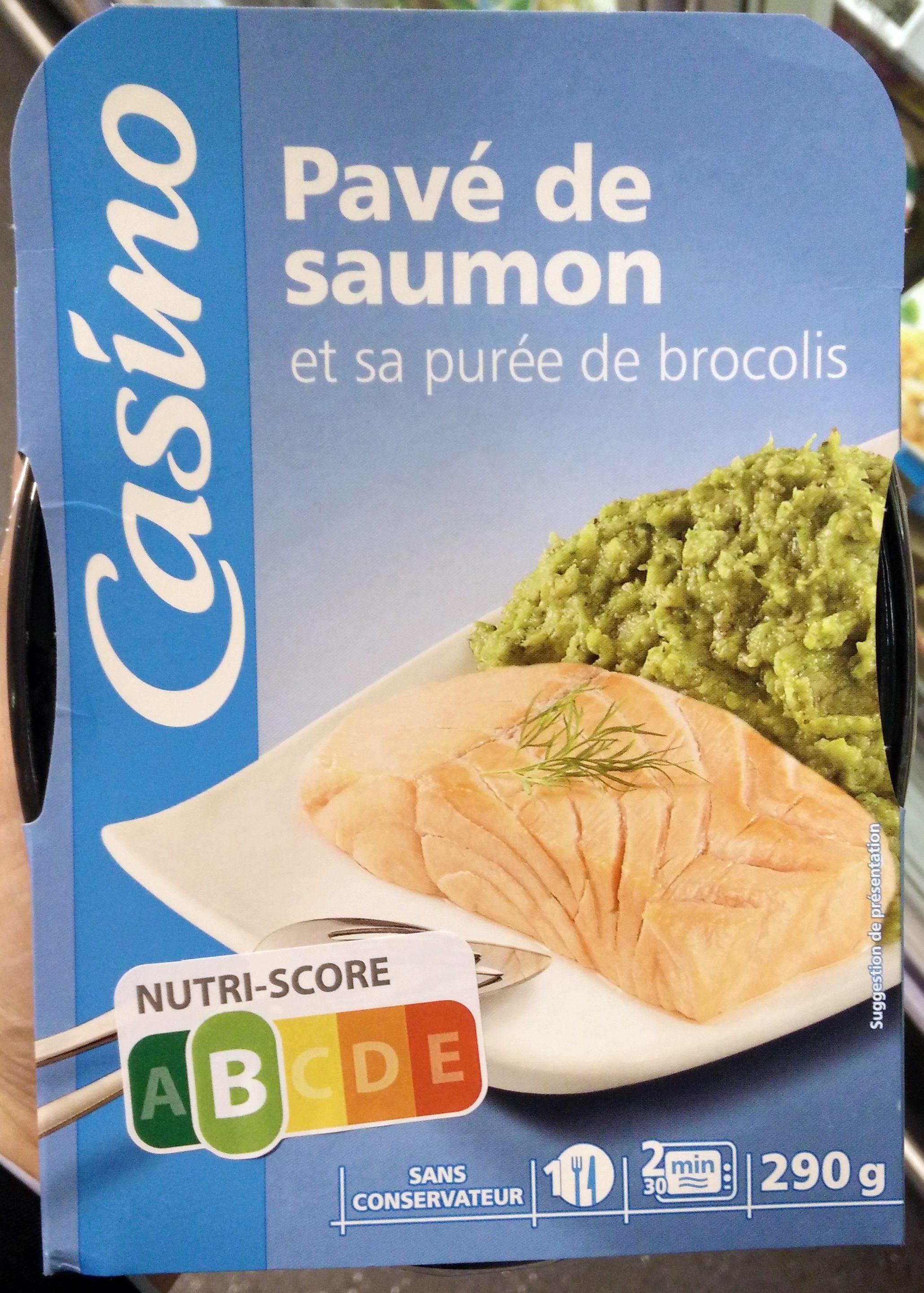 Pavé de saumon et sa purée de brocolis - Produit - fr