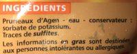 Prunes Moelleuses - Ingrédients - fr