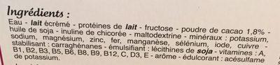 Milkshake Riche en Protéines Saveur Chocolat - Ingrediënten