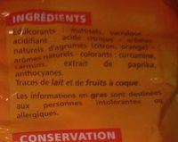 Mini bonbons assortis sans sucres goûts cerise, citron, fraise, orange - Ingredients - fr
