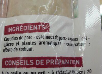 Véritables andouillettes de Troyes - Ingrediënten - fr