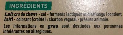 Selles-sur-Cher - Appellation d'Origine Protégée - Au lait cru - Ingrediënten - fr