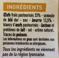 Quenelles lyonnaises nature pur beurre - Ingrédients - fr