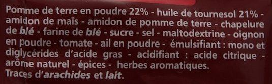 Diablotins goût Ketchup - Ingredients