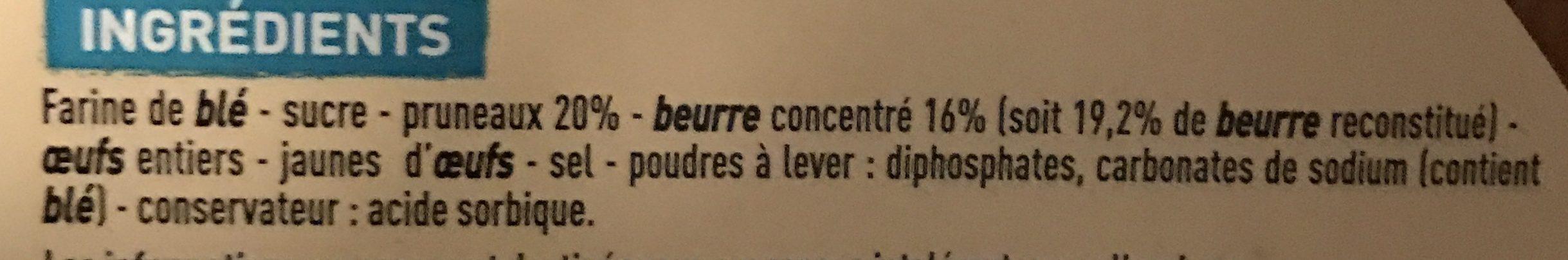 Gâteau breton fourré à la crème de pruneaux pur beurre - Ingrediënten - fr