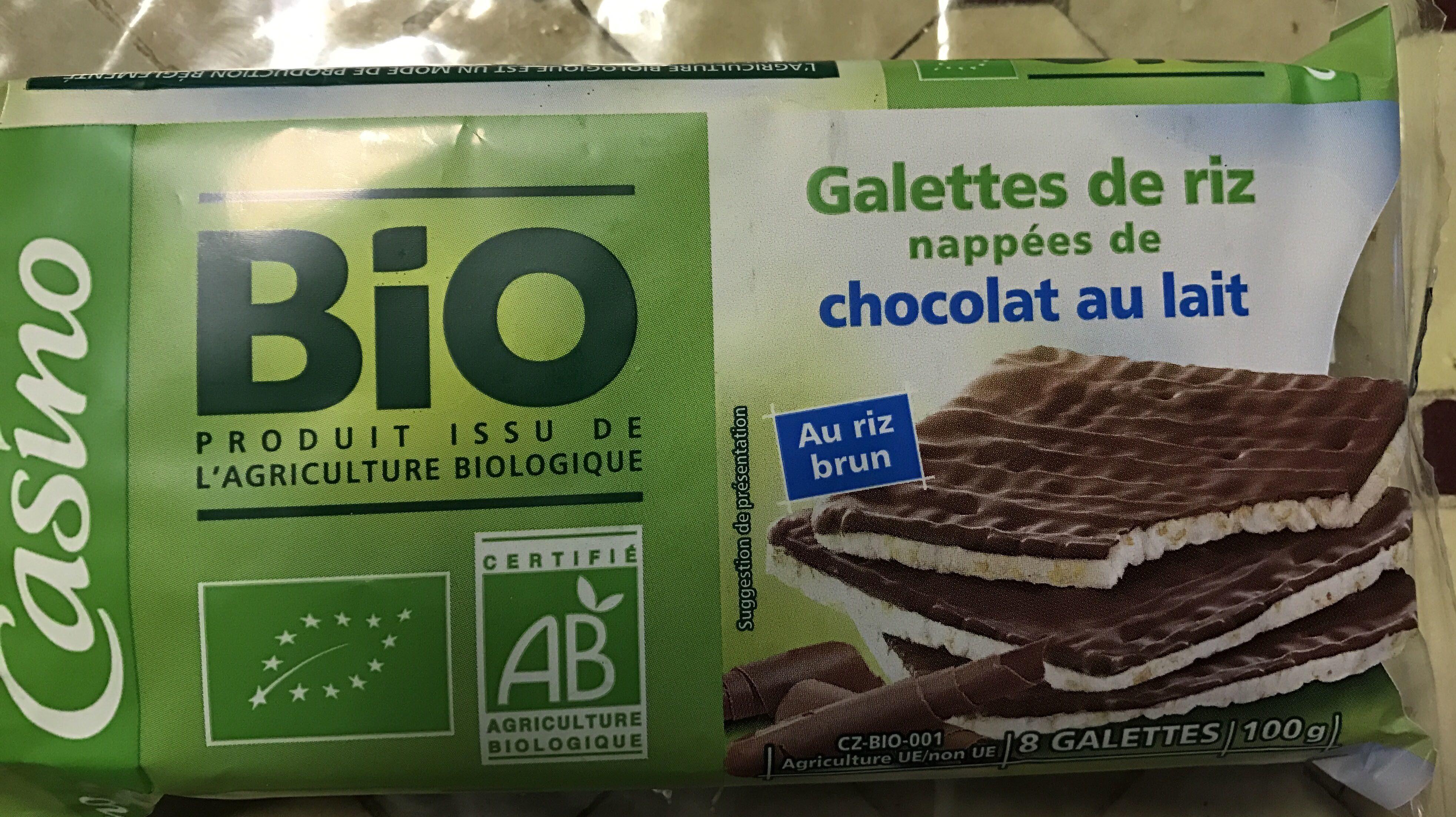 Galettes de riz nappées de chocolat au lait - Prodotto - fr
