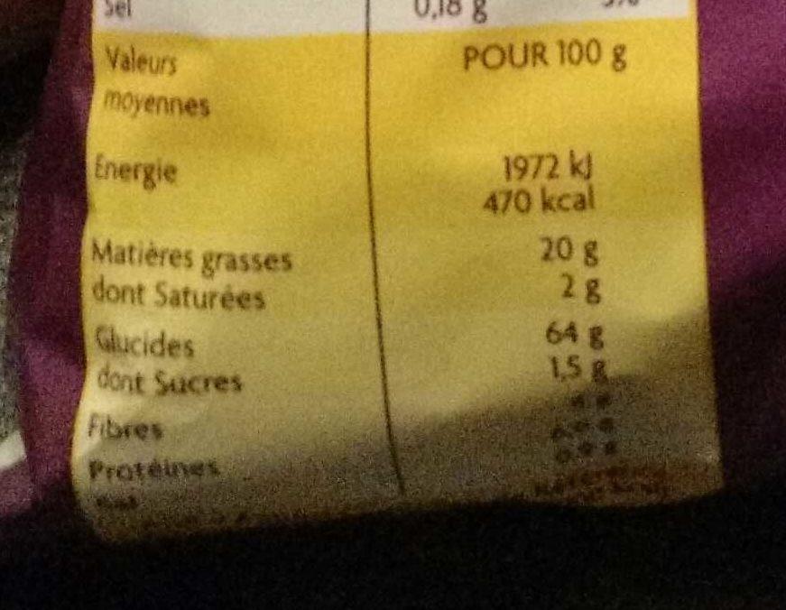 Tortillas chips nature - Voedingswaarden - fr