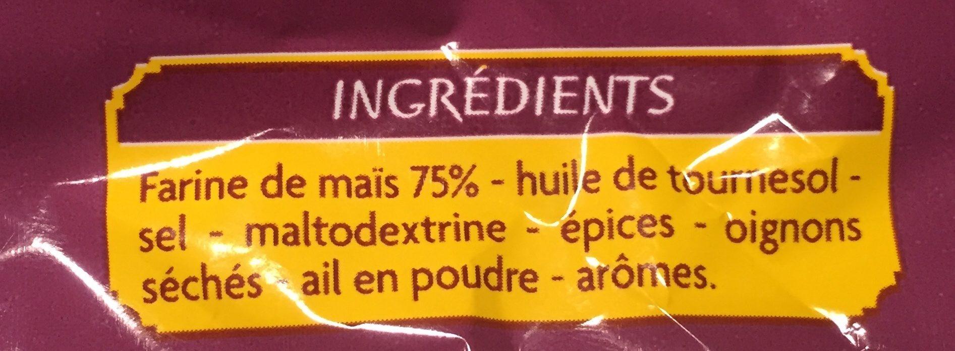 Tortillas chips gout fromage - Ingrediënten - fr