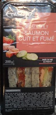 Sandwich gourmand - Saumon cuit et fumé sauce au fromage frais aneth - Produit