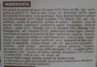 bagel poulet crudités sauce fromage frais ciboulette - Ingrédients - fr