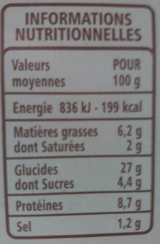 bagel poulet crudités sauce fromage frais ciboulette - Informations nutritionnelles - fr