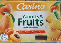 Yaourts aux fruits - Pêche, abricot, ananas, poire - Product