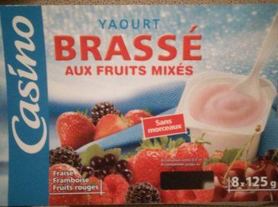 Yaourts brassés aux fruits rouges - Fraise, framboise, fruits rouges - Fruits mixés - Produit - fr
