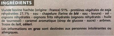 Boulettes au boeuf VBF 15% - Ingredients