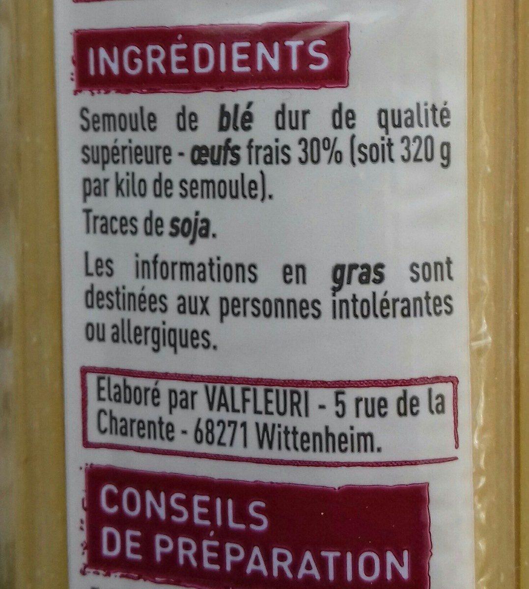 Spaghettis aux 7 oeufs - Ingrédients - fr