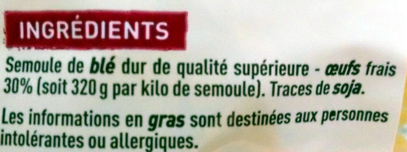 torsades aux 7 oeufs - Ingrédients