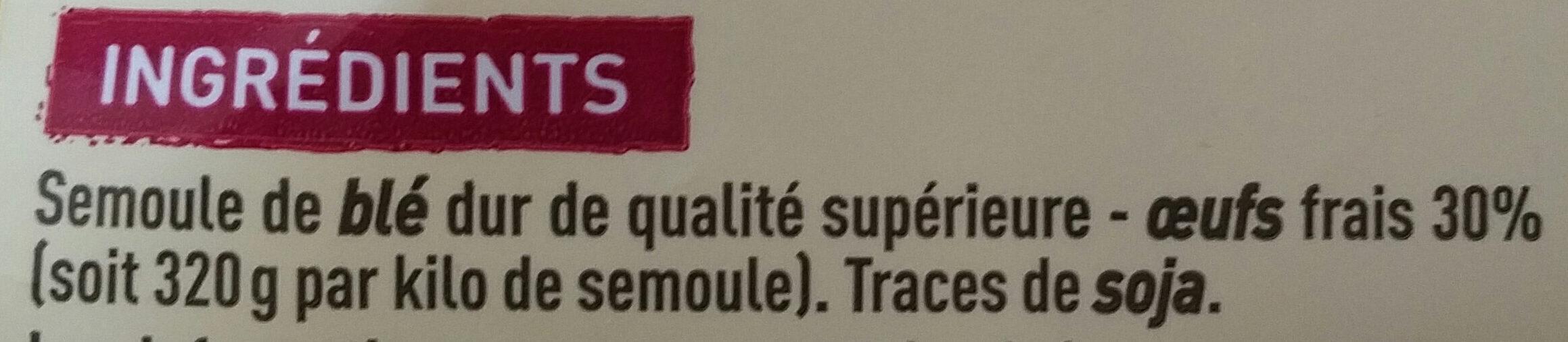 Spaetzle aux 7 oeufs - Ingrédients